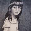 Kommunion, Tristesse, Mädchen, Zeichnungen