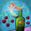 Kuss, Erdbeeren, Frühling, Kirsche