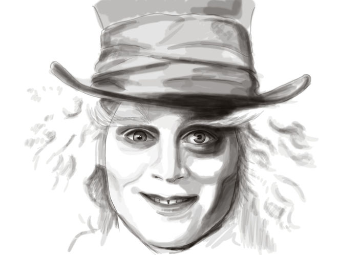 Johnny depp, Alice im wunderland, Hutmacher, Digitale kunst, Portrait