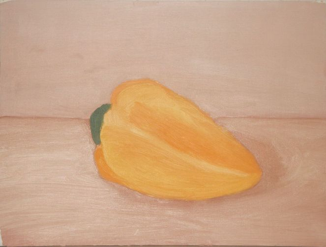 Gemüse, Paprika, Gelb, Frisch, Malerei
