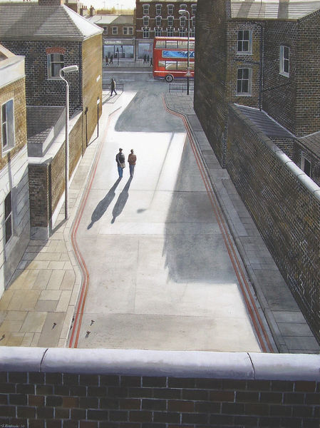 Freunde, Aquarellmalerei, Realismus, Menschen, London, Licht