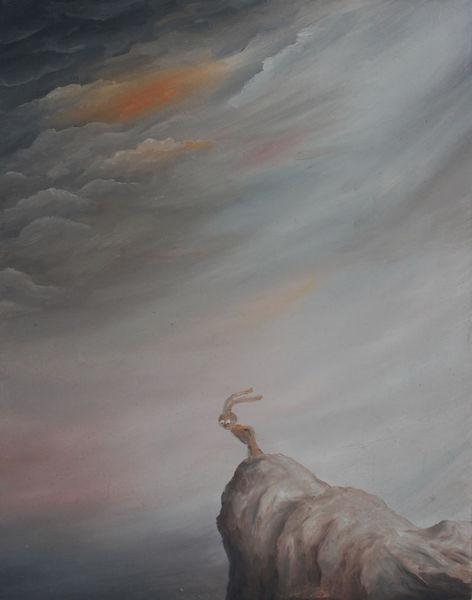Sturm, Himmel, Klippe, Bedrohlich, Felsen, Abgrund