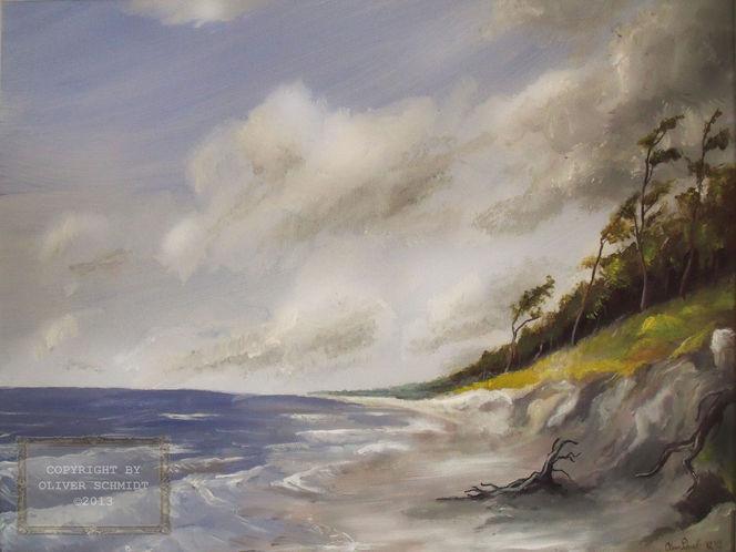 Strand, Wolken, Kiefer, Wind, Sturm, Dünen