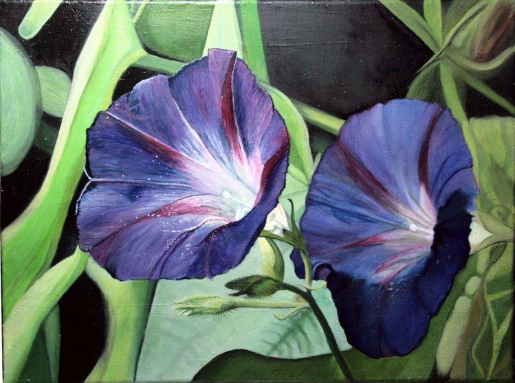 Blumen, Blüte, Ranken, Pflanzen, Malerei