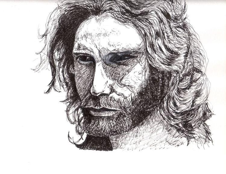 Tusche, Schwarz weiß, Mann, Zeichnung, Portrait, Zeichnungen