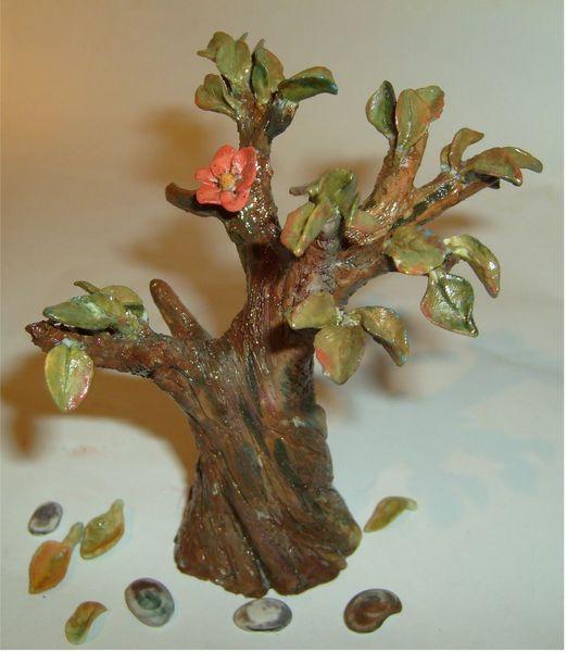 Porzellan handarbeit unikat, Plastik, Baum
