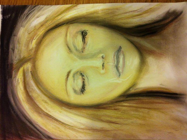 Augen, Pastellmalerei, Gesicht, Kreide, Portrait, Malerei