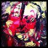 Acrylmalerei, Portrait, Abstrakt, Gesicht