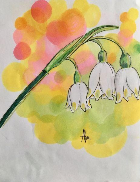 Frühlingsblumen, Frühling, Zeichnungen,