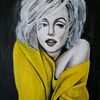 Monroe, Portrait, Malerei,