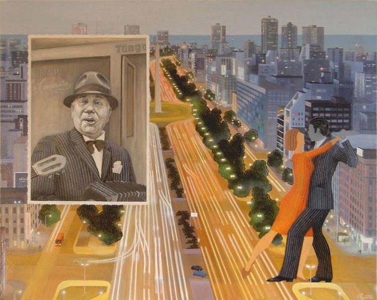 Argentinischer tango, Malerei