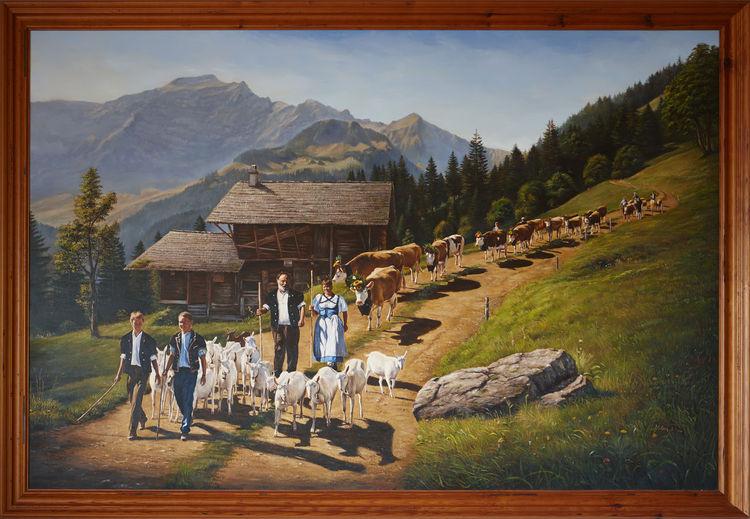 Almabtrieb, Schweiz, Berge, Wilderswil, Alm, Tradition