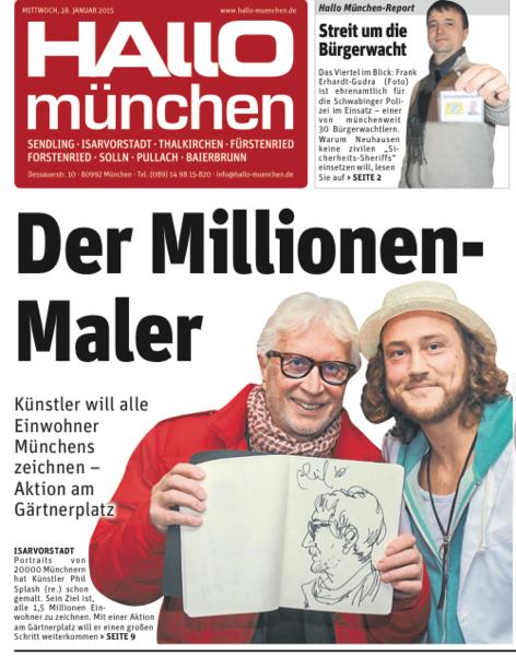 Coverstory hallo münchen, The million painter, Einskommafuenfmoimuenchner, Portrait, Der millionen maler, 5 mio münchner