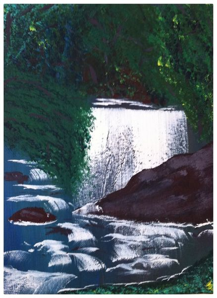 Wasser, Landschaft, Grün, Malerei