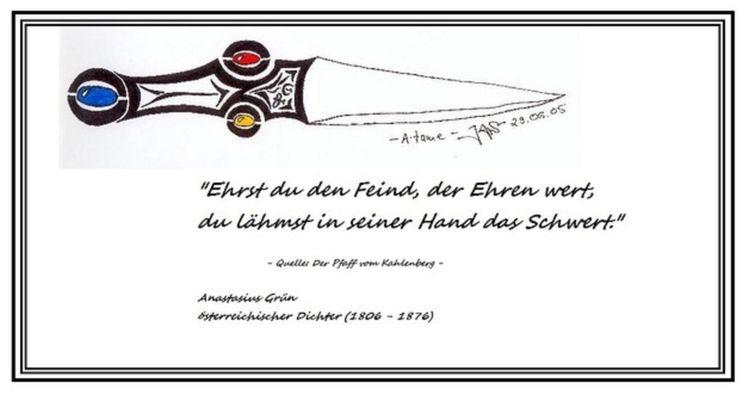 Kunstdruck, Schwert, Druck, Tribal, Atame, Zitat