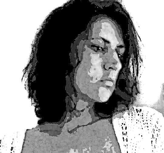 Frau schwarz weiß, Fotografie, Digital bearbeitet