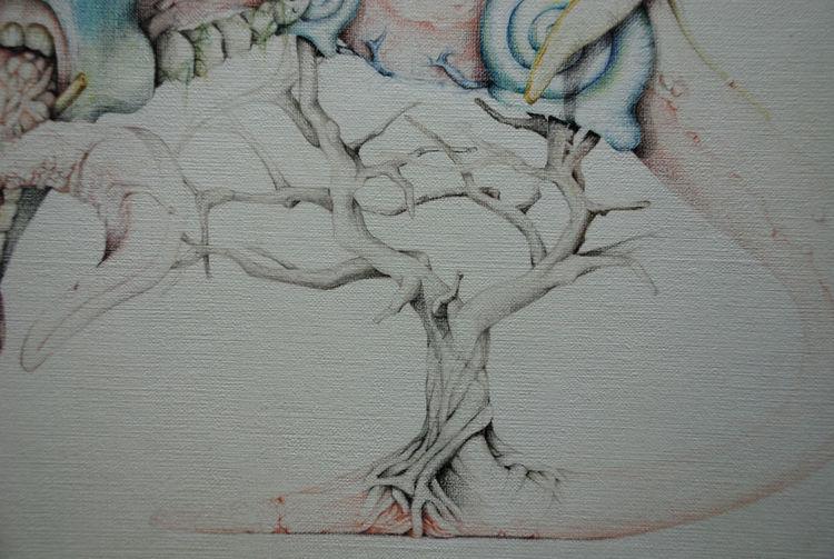 Äste, Baum, Zunge, Zeichnungen,