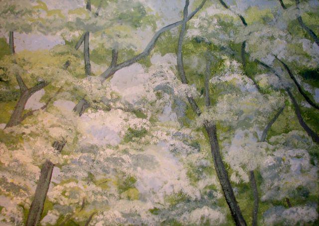 Landschaftsmalerei impressionismus  Bild: Frühling, Blüte, Landschaftsmalerei, Impressionismus von ...