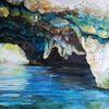 Grotte, Felsen, Aquarell