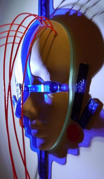 Abstrakt, Kopf, Glas, Asulo, Modern, Kunsthandwerk