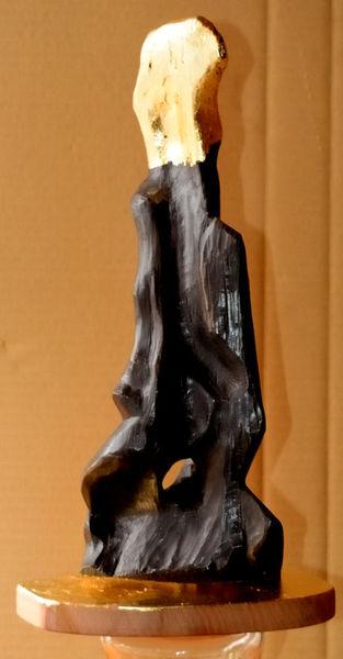 Skulptur, Holz, Schnitzkunst, Interpretation, Abstrakt, Kunsthandwerk