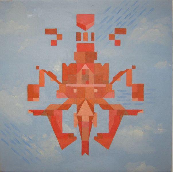 Etno, Abstrakt, Malerei, Ölmalerei, Pop art,