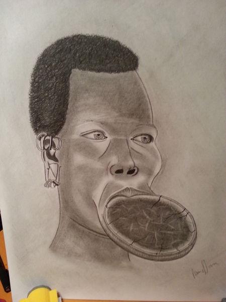 Portrait, Bleistiftzeichnung, Zeichnungen, Volk