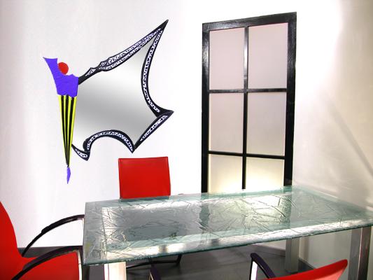 Glas, Designspiegel, Spiegel, Modern, Bunt, Design