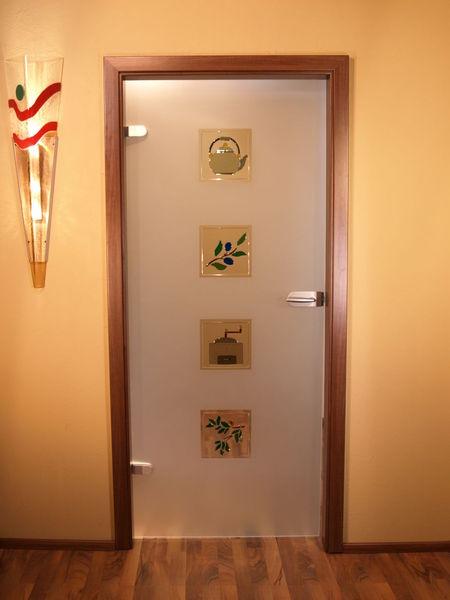 Dekoration, Ganzglastür, Glas, Fusingglas, Kunsthandwerk, Küche