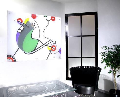 Bunt, Design, Glas, Glasdesign, Modern, Abstrakt