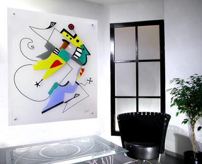 Bunt, Design, Glas, Abstrakt, Modern, Kunsthandwerk