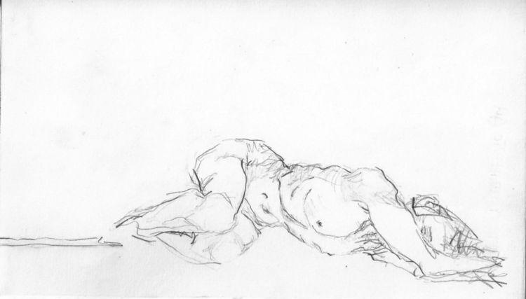 Zeichnung, Frau, Akt, Zeichnungen, Kritzel