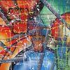 Malerei, Abstrakt, Bunt, Acrylmalerei