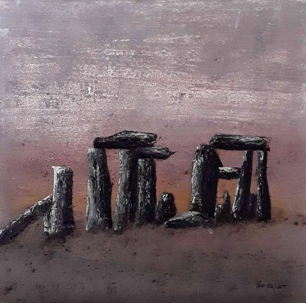 Abstrakt, Stein, Ferne, Irland, Hügel, Pfahl