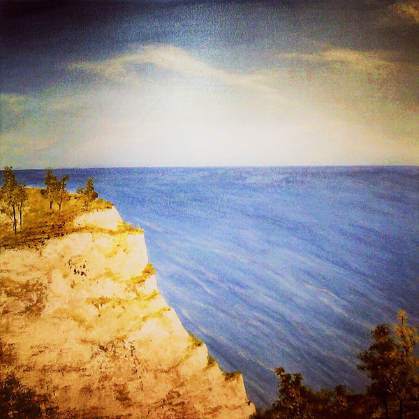 Landschaftsmalerei, Wolken, Acrylmalerei, Himmel, Meer, Wasser