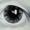 Kohlezeichnung, Blick, Augen, Schwarz weiß