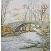 Malerei, Alpen, Brücke