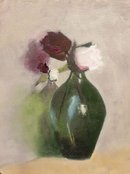 Rose, Vase, Blumen, Pflanzen, Klassisch, Malerei