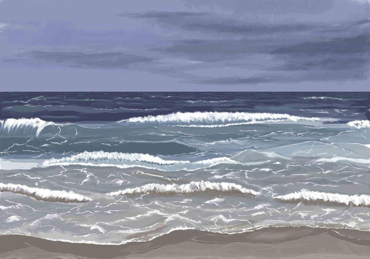 Horizont, Meer, Welle, Malerei