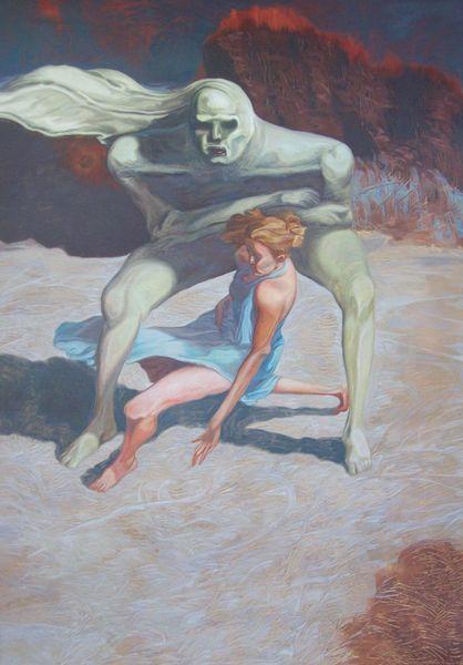 Surreal, Grendel, Menschen, Monster, Malerei