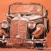Benz, Cabrio, Mercedes, Zeichnungen