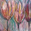 Frühling, Pastellmalerei, Malerei, Blumen