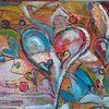 Struktur, Herz, Farben, Bunt