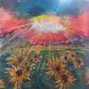Acrylmalerei, Modern, Landschaft, Sonnenblumen