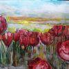 Blumen, Natur, Tulpen, Malerei