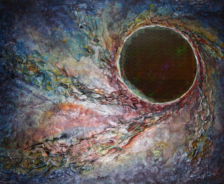 Vollmond, Nacht, Planet, Universum, Metall, Malerei