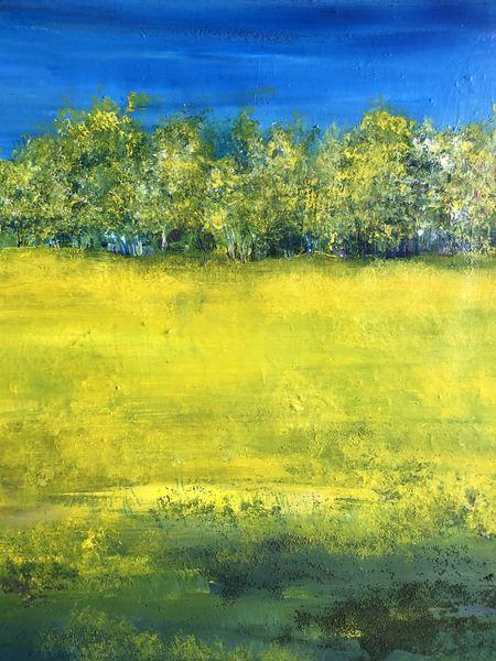 Himmel, Wiese, Baum, Malerei