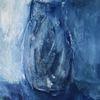 Blau, Vase, Malerei,