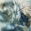 Eis, Abstrakt, Blumen, Malerei