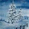 Baum, Schnee, Eis, Winter